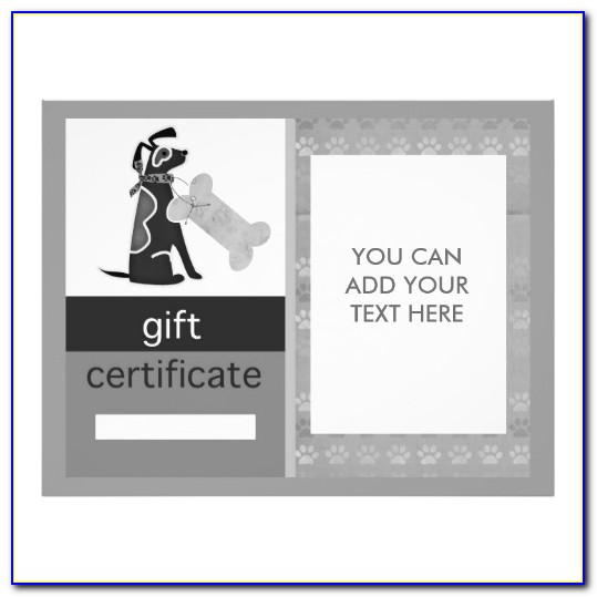 Dog Gift Certificate Template Free
