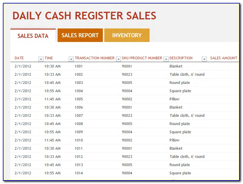 Download Restaurant Daily Sales Report Template