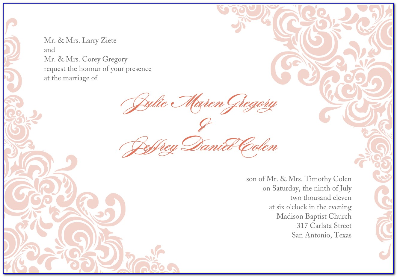 Download Templates For Invitation Cards