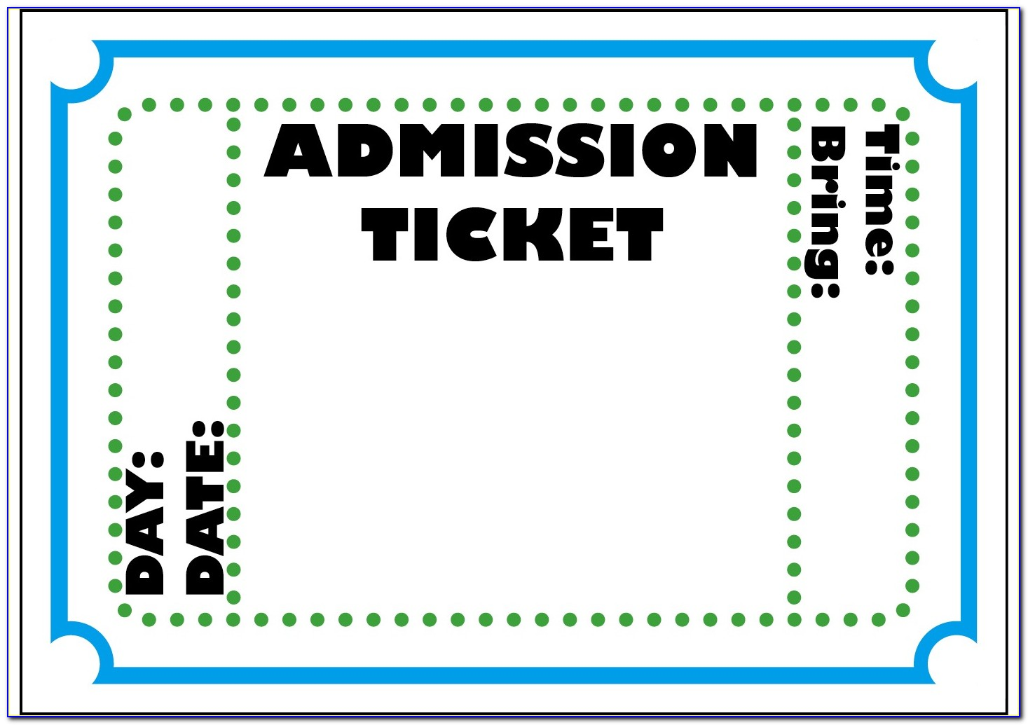 Drawing Entry Ticket Template