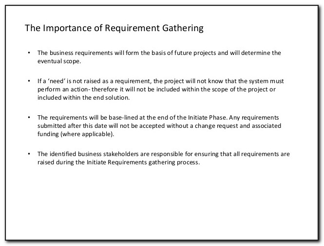 Dynamics Crm Requirements Gathering Template