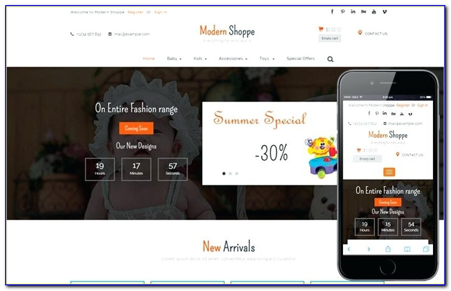 E Commerce Websites Bootstrap Templates Free Download