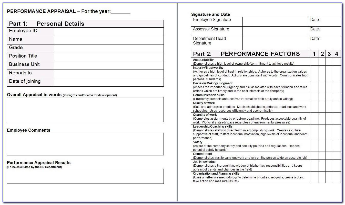 Employee Appraisals Templates
