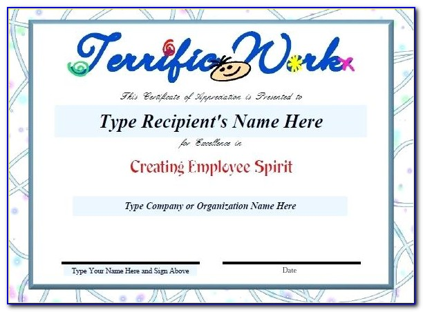 Employee Appreciation Day Certificate Template