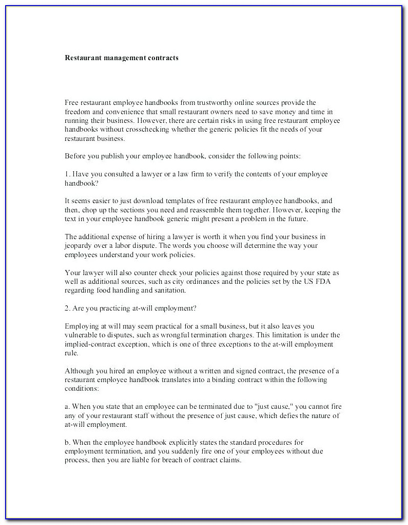 Employee Handbook Template Uk 2017
