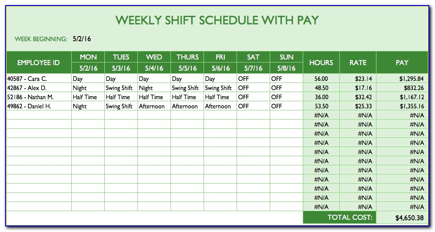 Employee Monthly Work Plan Template