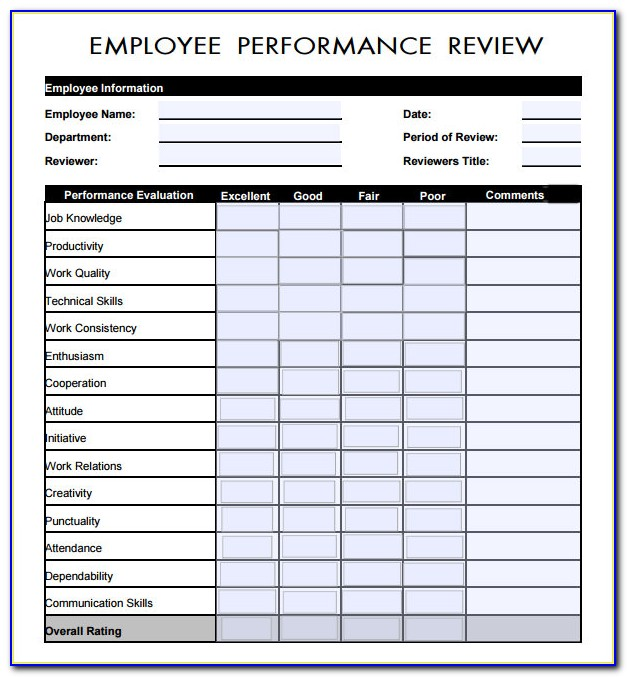 Employee Performance Tracking Template Excel
