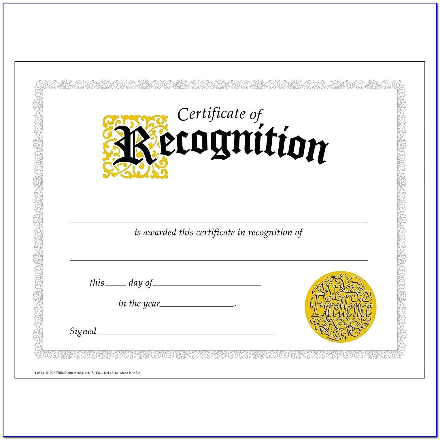 Employee Recognition Certificate Examples