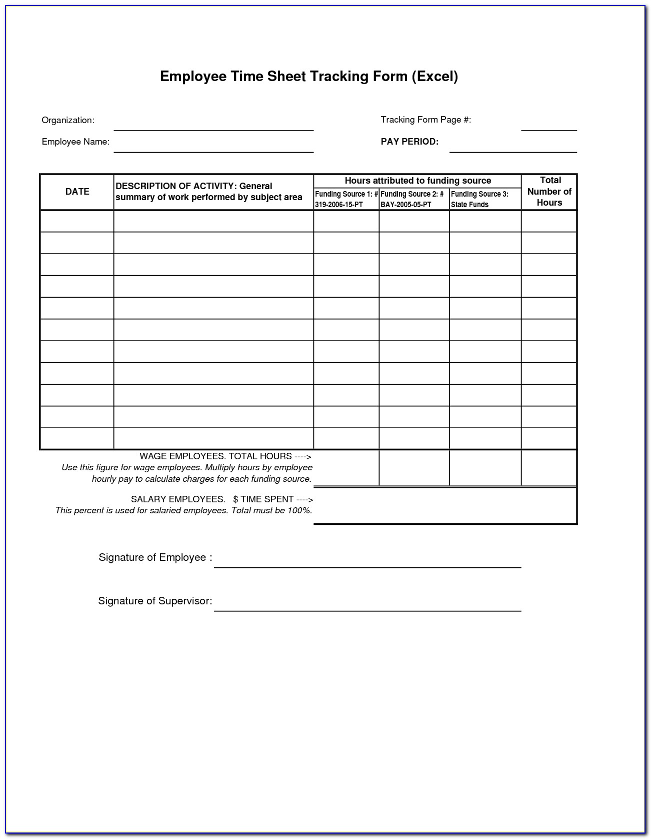 Employee Time Off Tracking Template