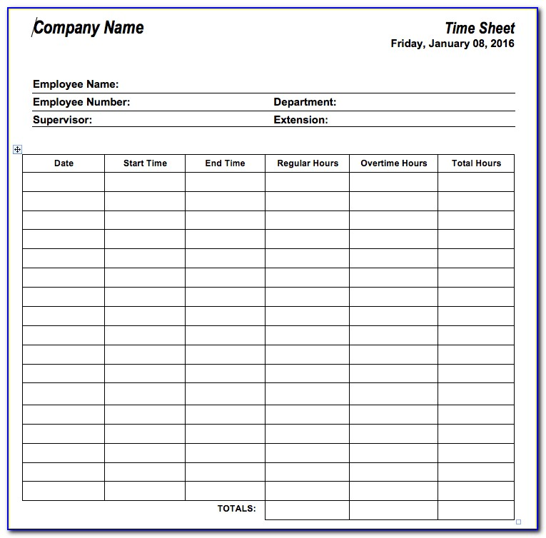 Employee Vacation Time Tracking Template