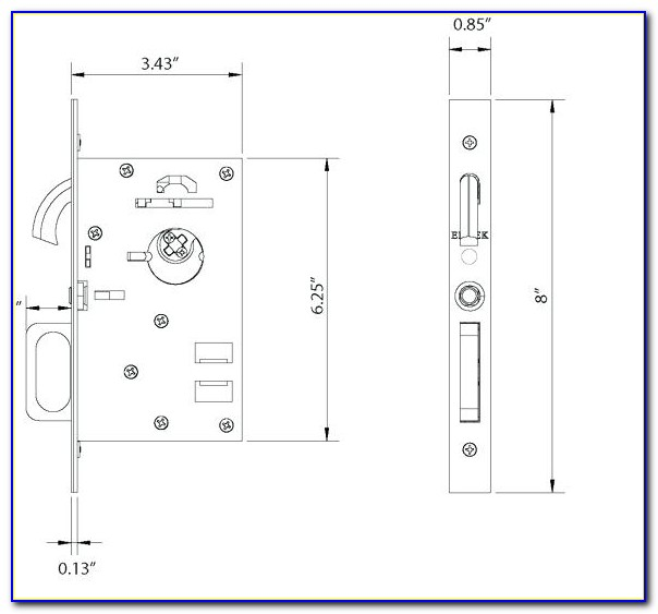 Emtek Pocket Door Mortise Lock Template