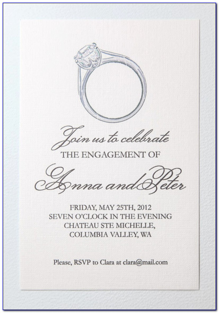 Free Engagement Invitation Templates Free Printable Engagement