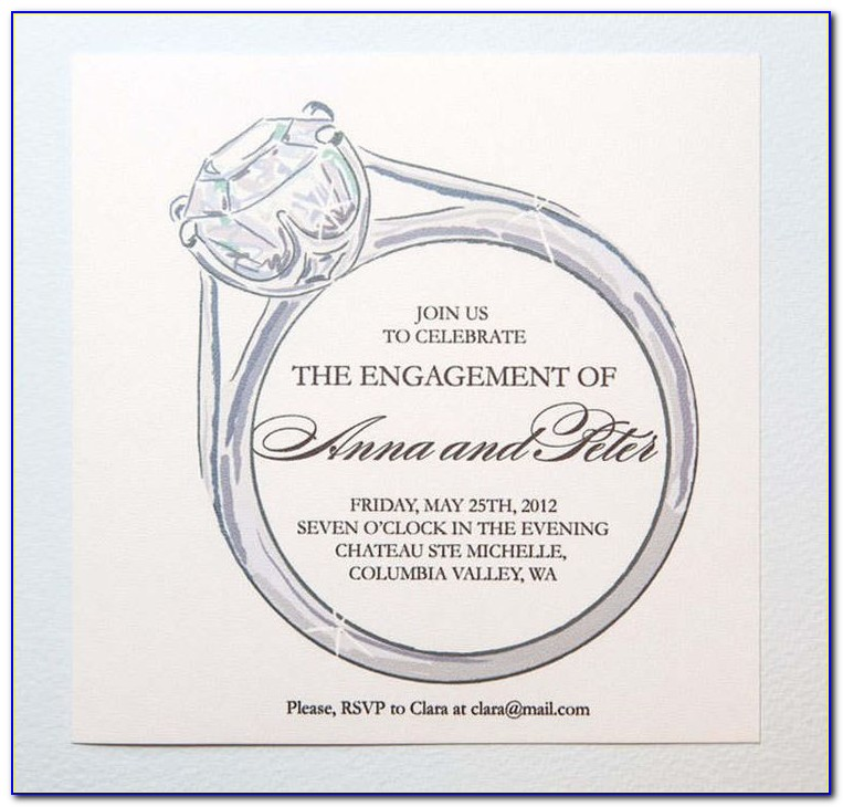 Engagement Party Invitation Template Free
