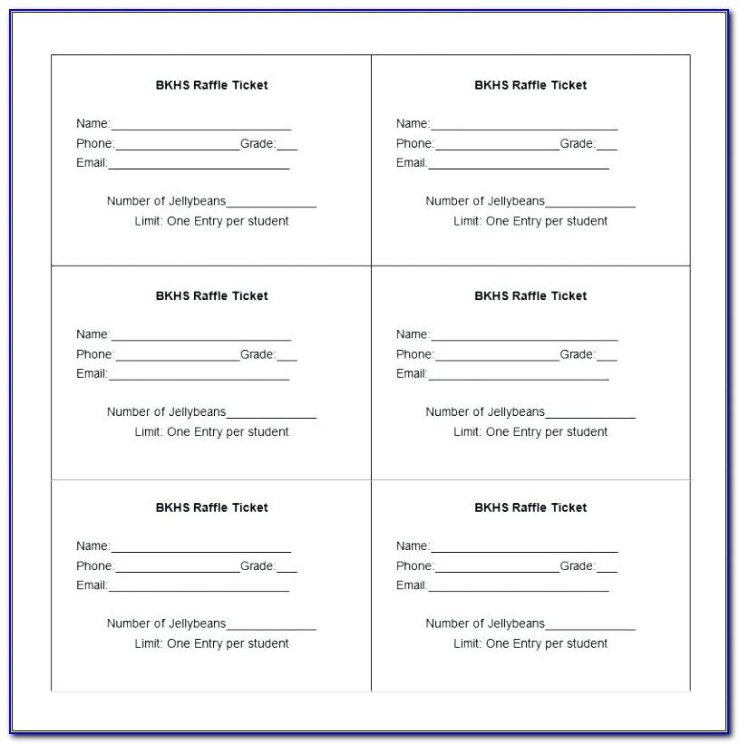 Entry Ticket Format