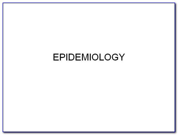 Epidemiology Templates Powerpoint
