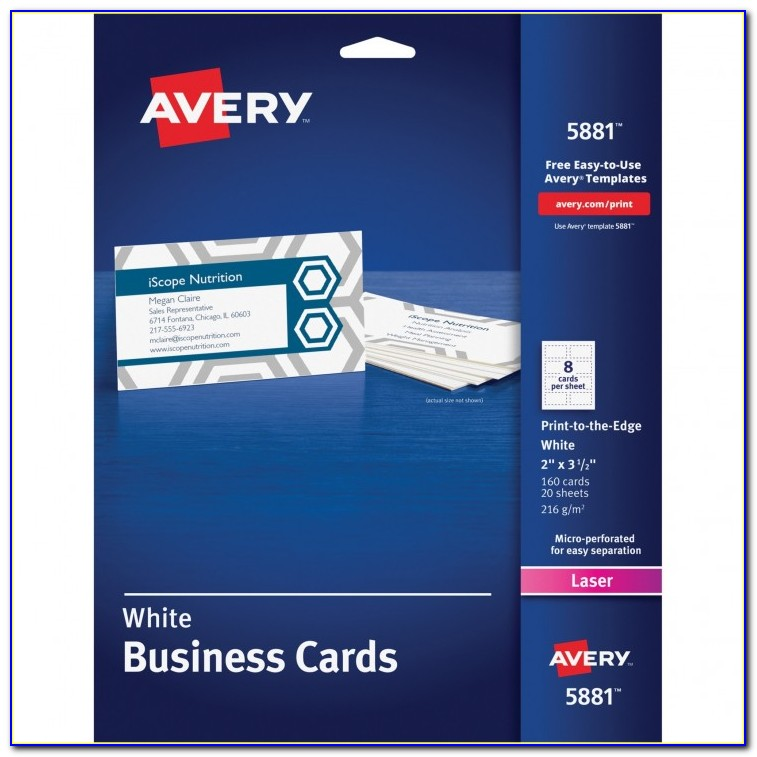 Epson Business Card Template