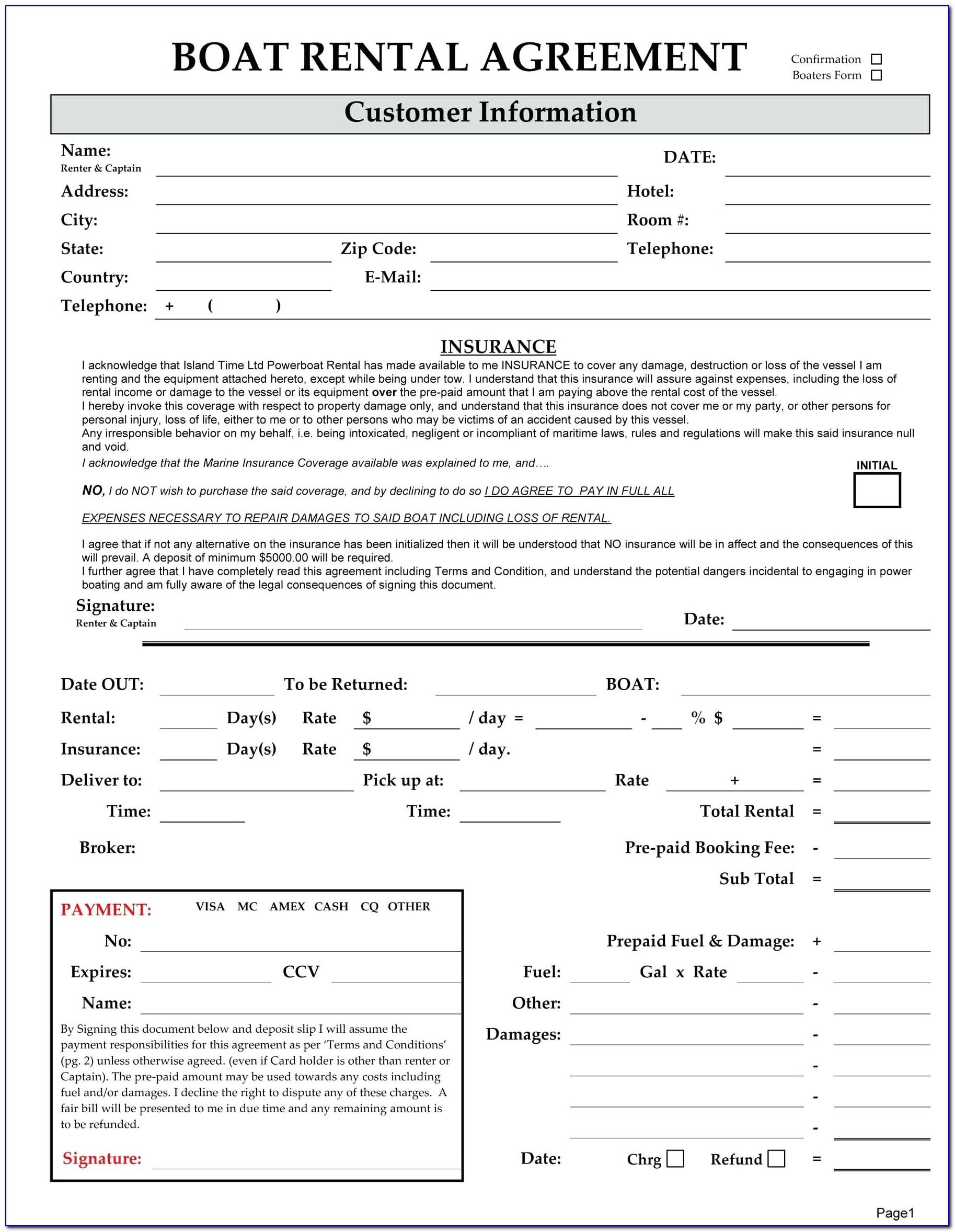 Equipment Rental Contract Format