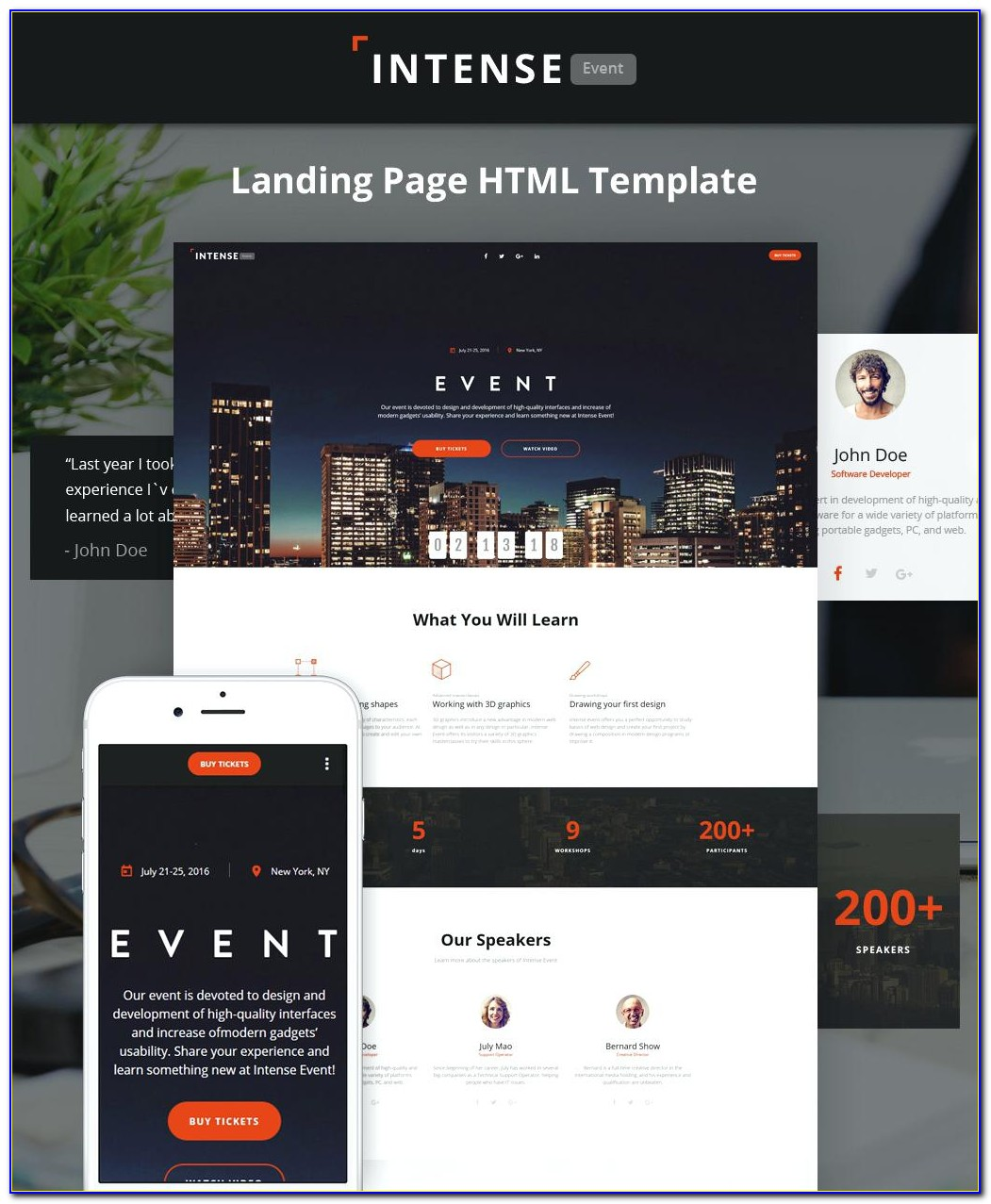 Event Management Website Templates Bootstrap Free Download