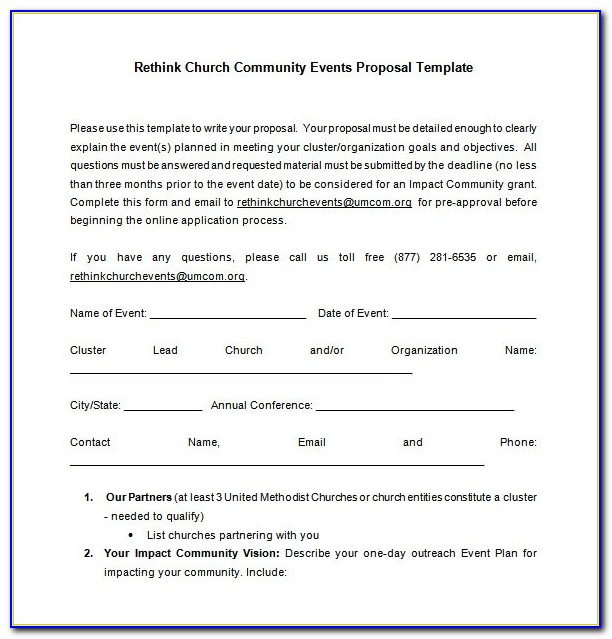Event Proposal Template 16+ Free Sample, Example, Format Download With Regard To Proposal Letter For A Church Event
