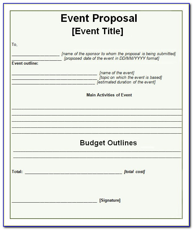 Event Sponsorship Proposal Template Free Download