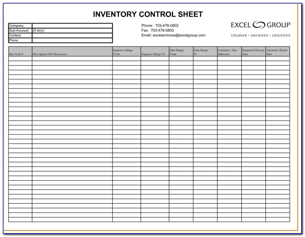 Excel Inventory Template With Pictures