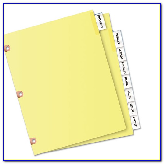 Exp Insertable Tab Dividers Template