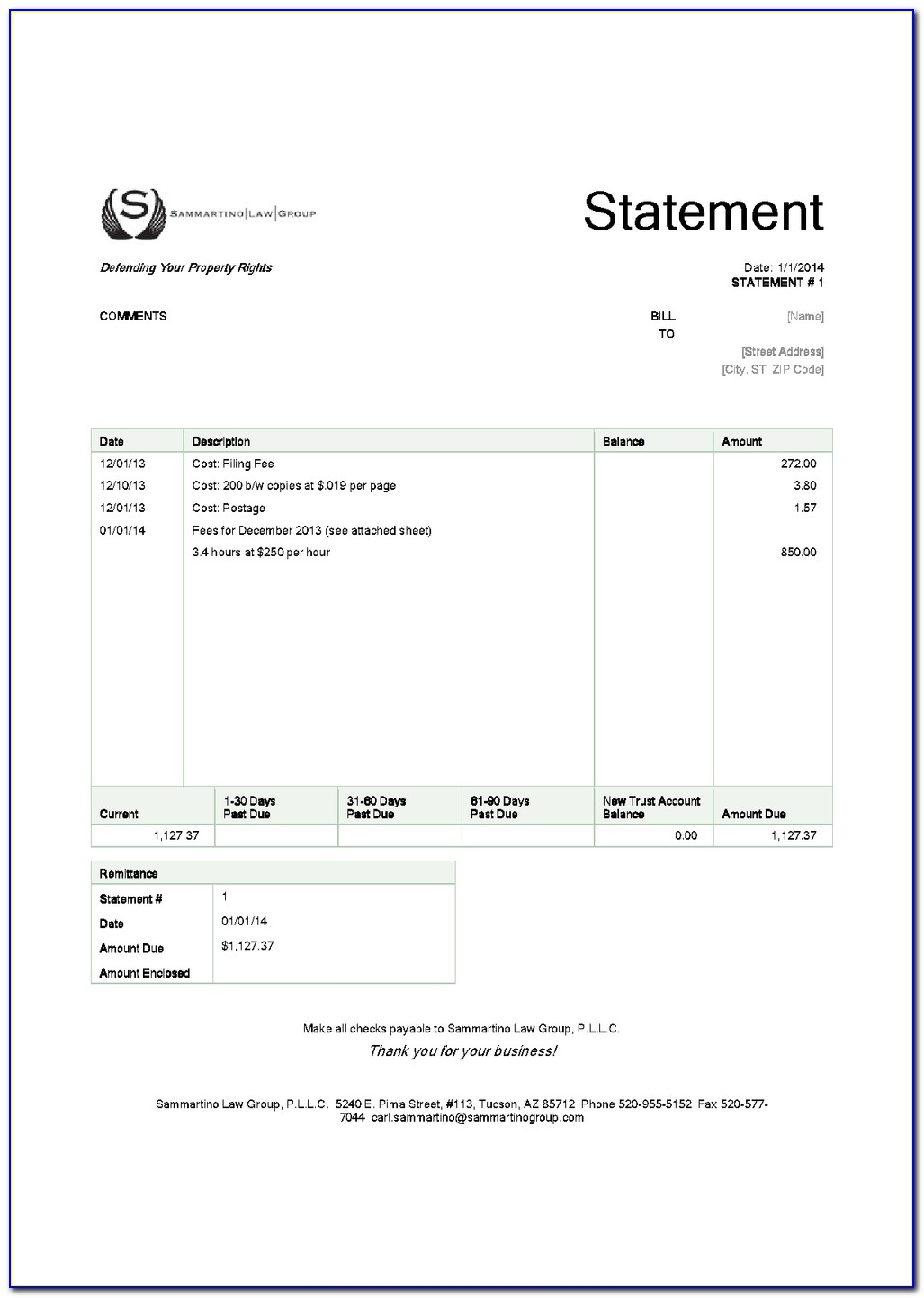 Sample Legal Invoice Services Rendered Legal Attorney Invoice Sample Legal Invoice