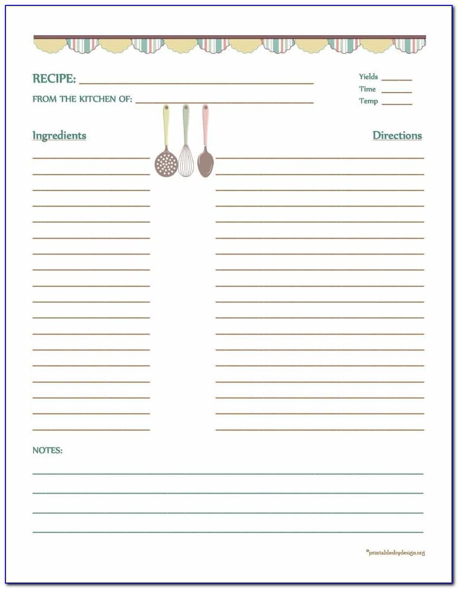 Family Recipe Cookbook Template
