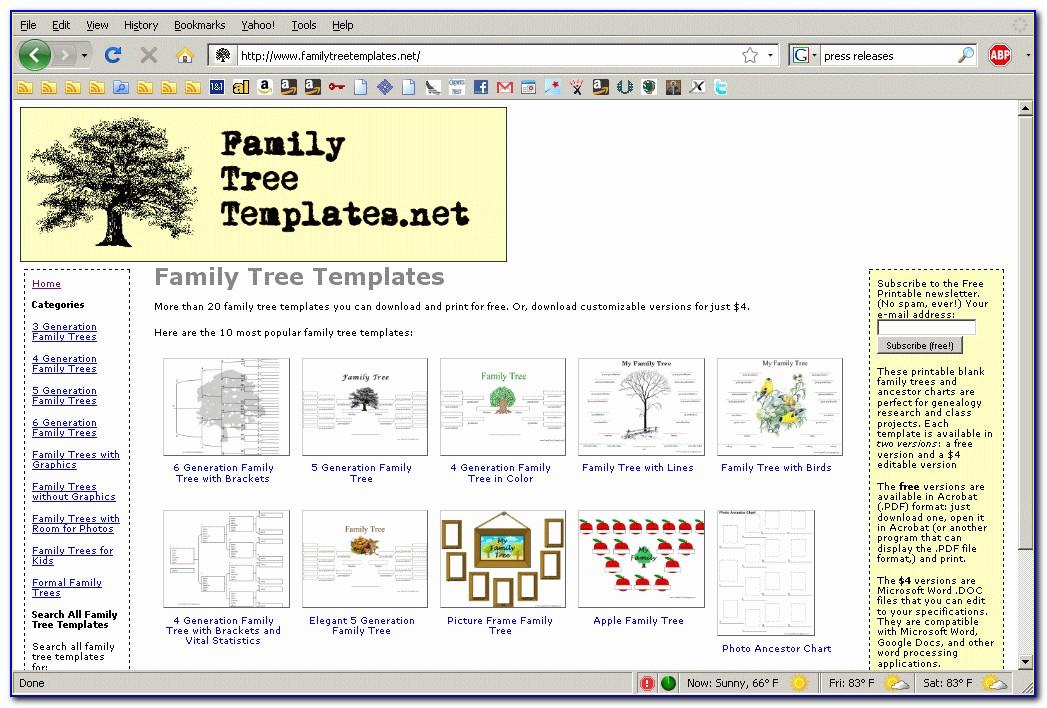 Family Tree Web Templates Free