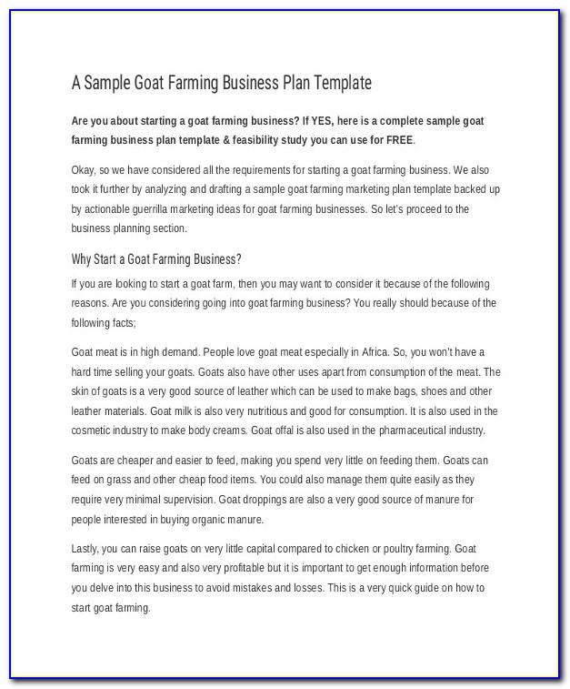 Small Cattle Farm Business Plan Template Farm Business Plan Template 9 Free Sample Example