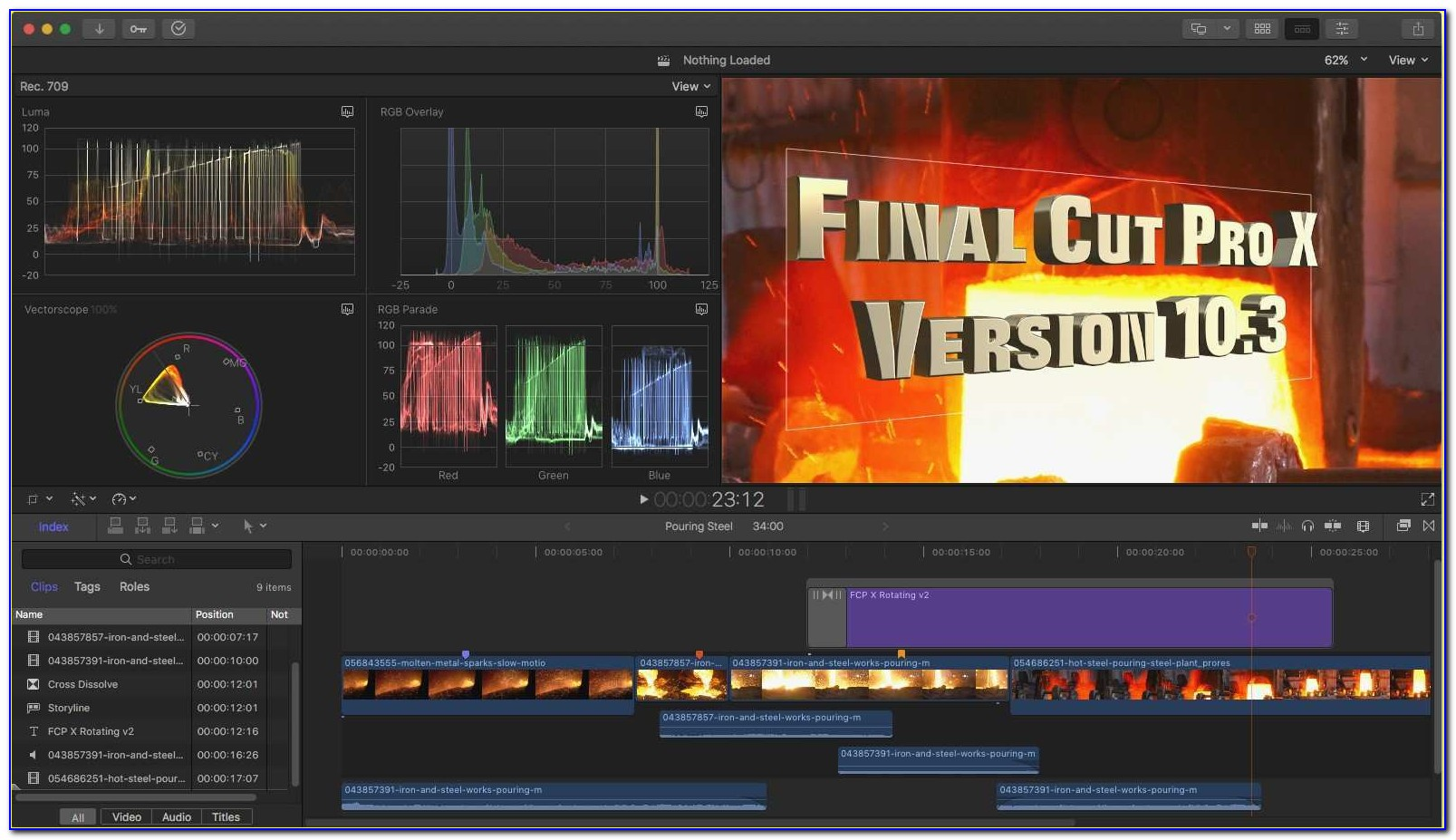 Youtube Intro Templates Final Cut Pro X Beautiful New Apple Releases Final Cut Pro X 10 3
