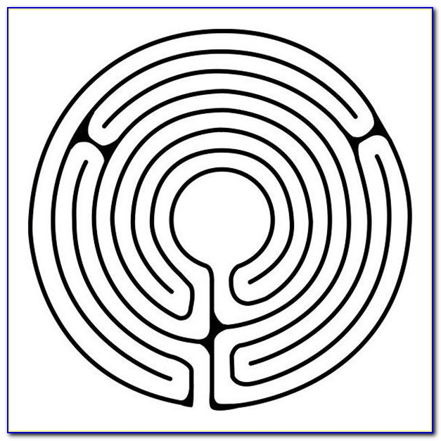 Finger Labyrinth Template