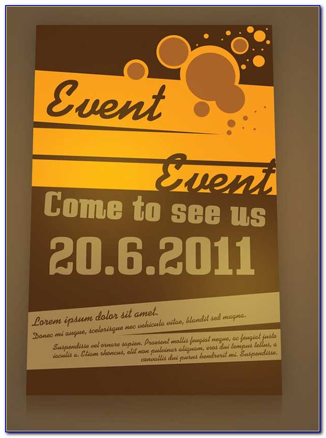 Flyers For Events Templates