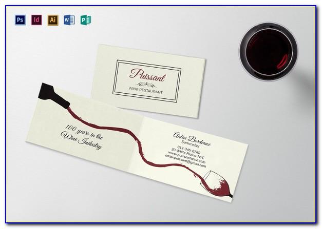 Folded Business Card Template Ai