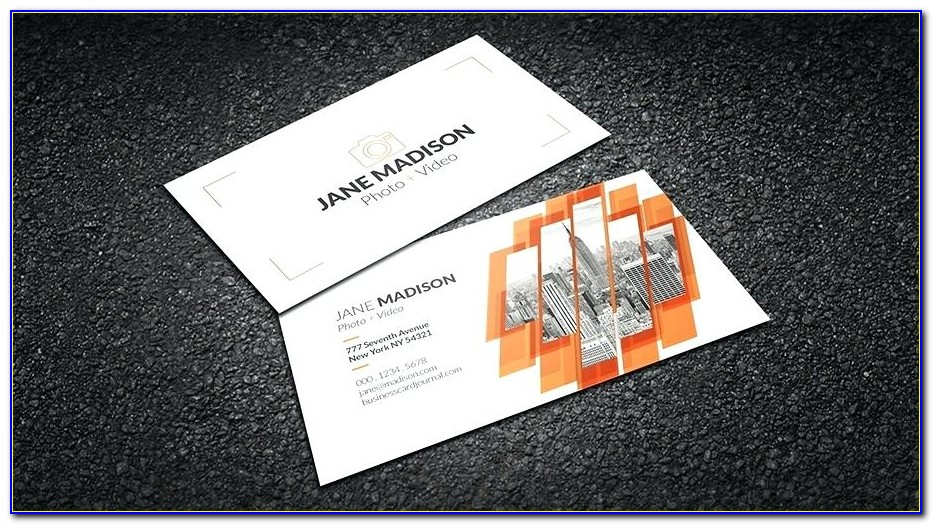 Folded Business Card Template Free