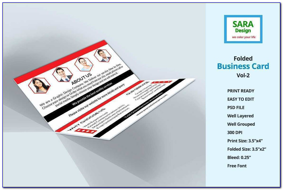 Folded Business Cards Template Fresh Corporate Folded Business Card Vol 2 Business Card