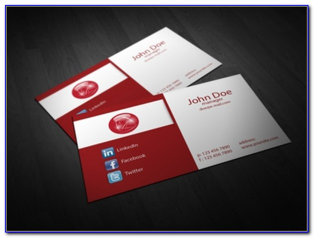 Folded Business Card Template Word