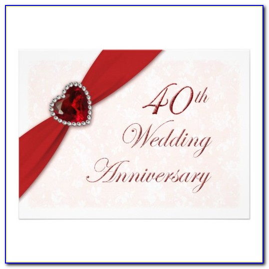 Free 40th Wedding Anniversary Invitations Templates