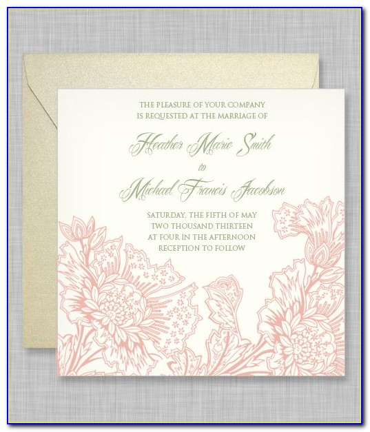 Free 5x5 Wedding Invitation Templates