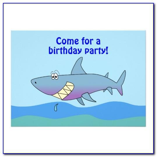 Free Baby Shark Birthday Invitation Template