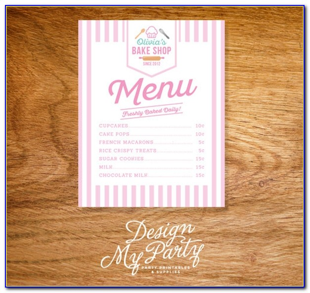 Free Bakery Menu Templates For Word