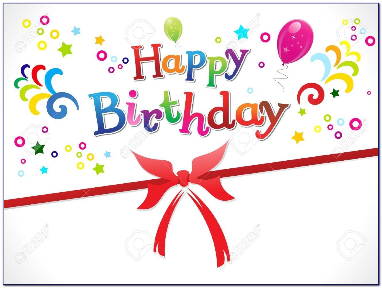Free Birthday Card Template Photoshop