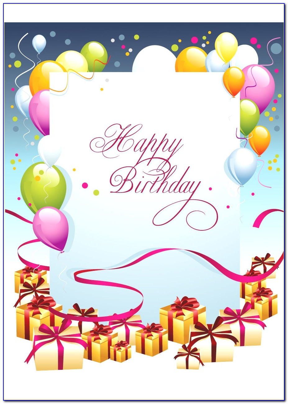 Free Birthday Card Template Word