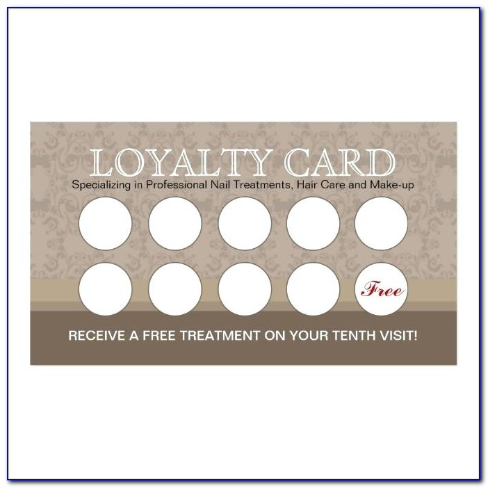 Free Business Loyalty Card Template