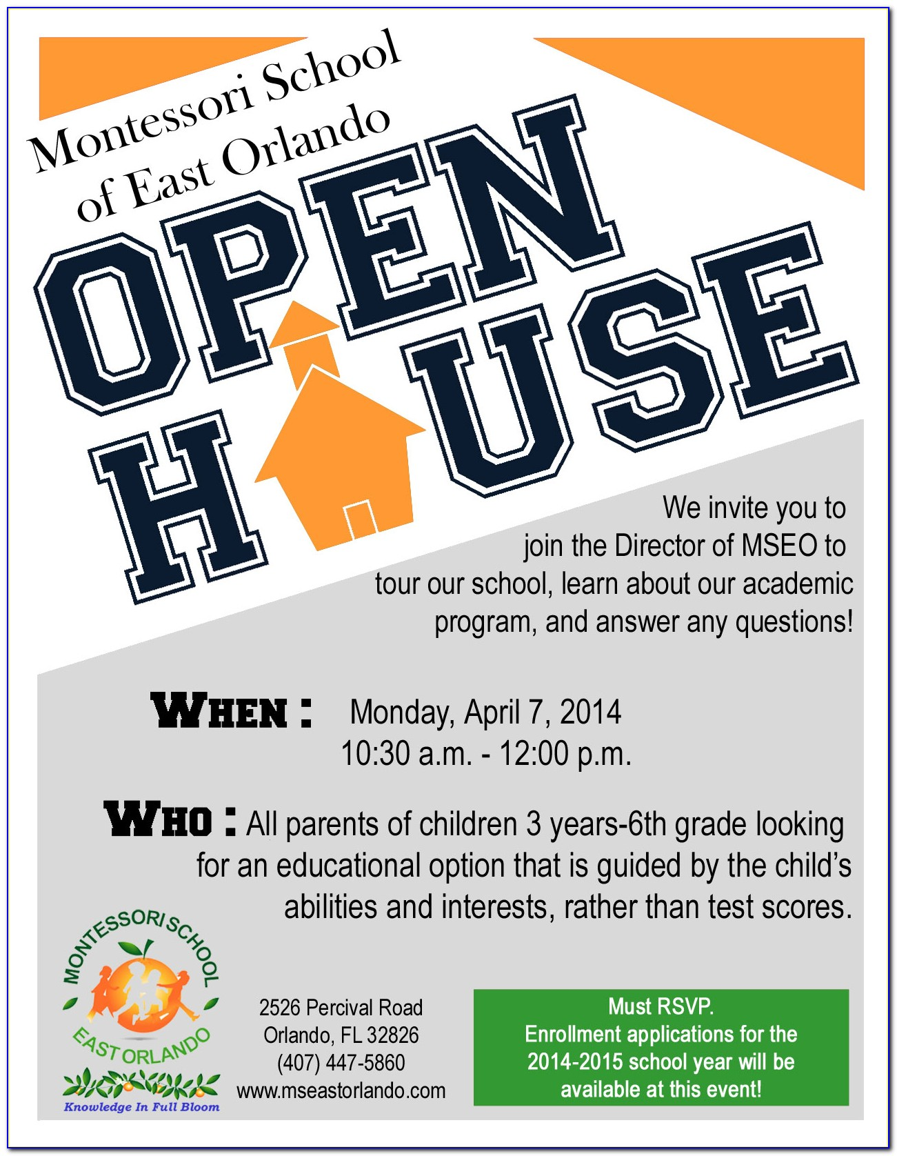 Free Business Open House Flyer Template