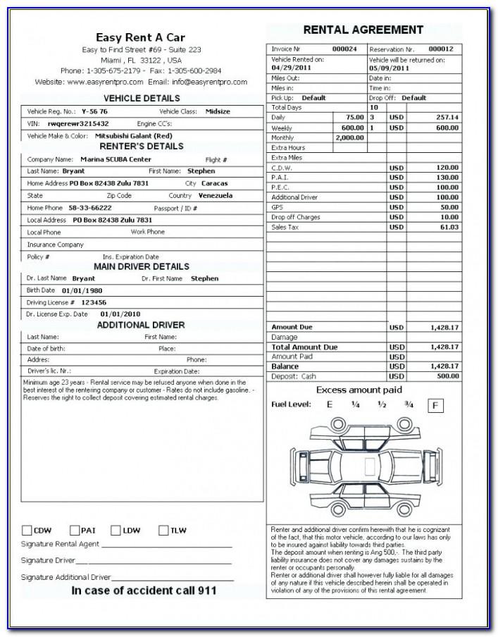 Template: Motor Vehicle Rental Agreement Template Car Form Elegant Vehicle Rental Agreement Template