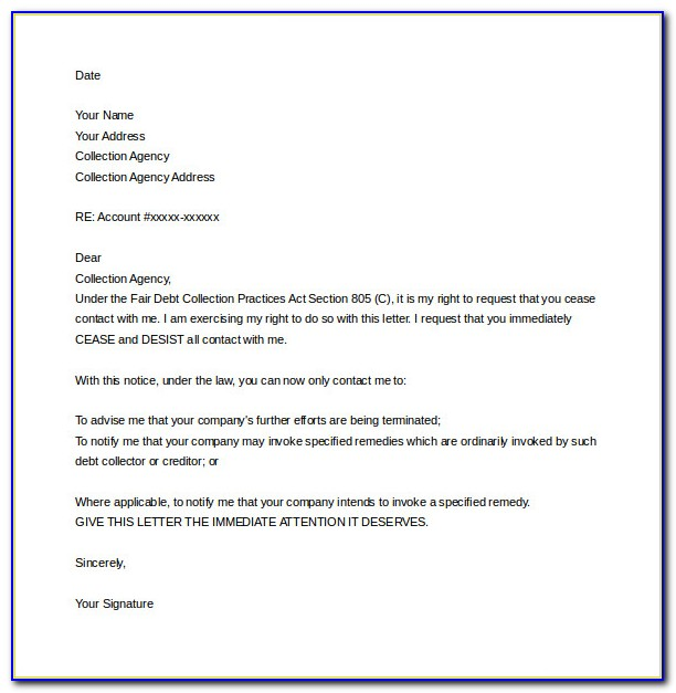Free Cease And Desist Letter Template For Harassment