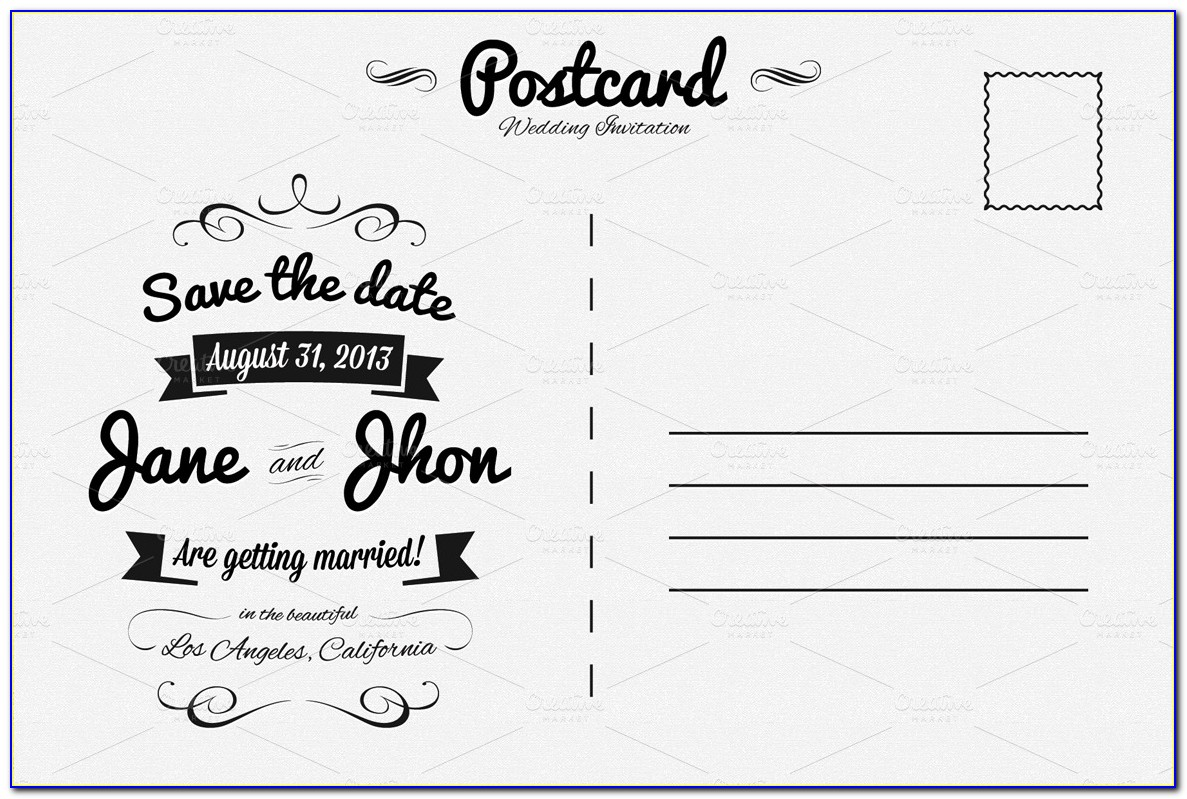 Free Christmas Invitation Postcard Templates
