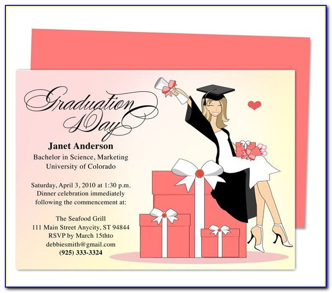 Free College Graduation Party Invitations Templates