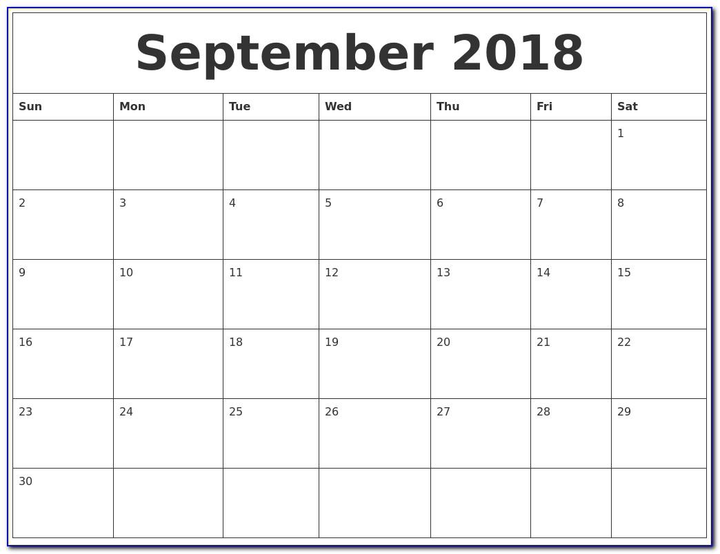 Free Customized Printable Calendar Templates